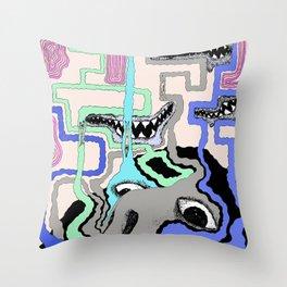 Strange Vision Throw Pillow