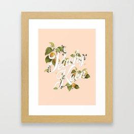 Peachy Keen : Peach Framed Art Print