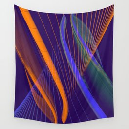 curved lines in architecure Wall Tapestry