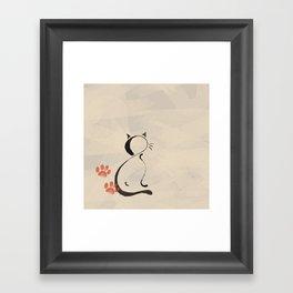 Cat Looking Forward Framed Art Print