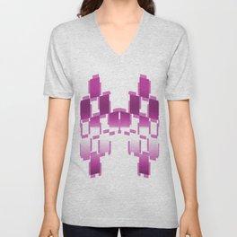 pink purple white cactus abstract geometrical art Unisex V-Neck