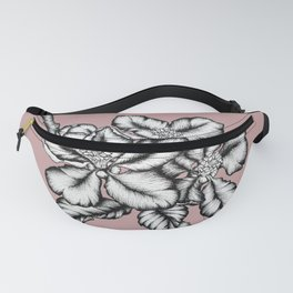 Apple blossom by ink and pink pastel Fanny Pack