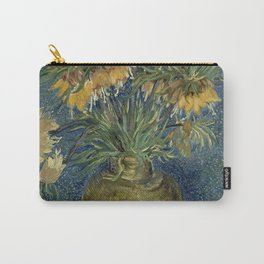 Fritillaries in a Copper Vase by Vincent van Gogh Carry-All Pouch