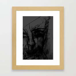 Angry Clown From Hell Framed Art Print