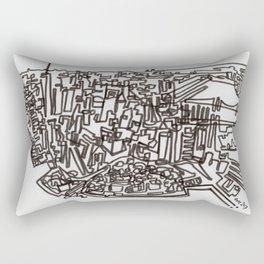Lower Manhattan Line Rectangular Pillow