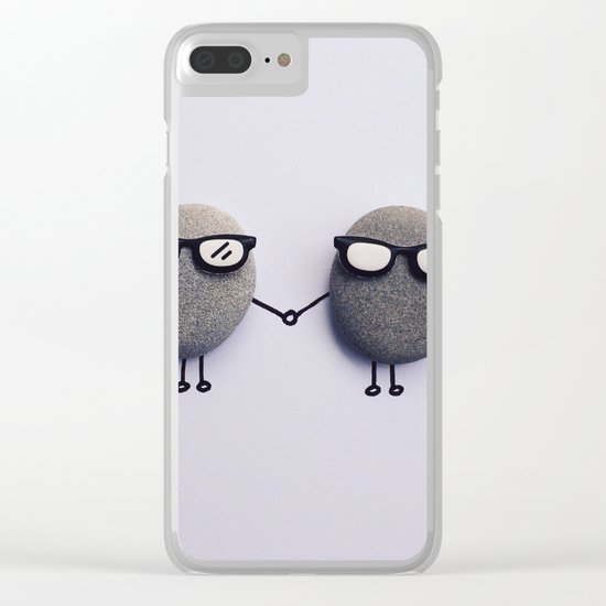 Love Duo Clear iPhone Case