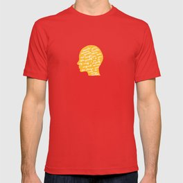 Head profile with positive attitude T-shirt