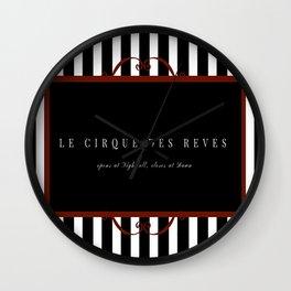 Night Circus Invitation Wall Clock