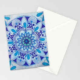 Simpe Blue Mandala Stationery Cards