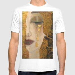 Golden Tears (Freya's Heartache) portrait painting by Gustav Klimt T-shirt