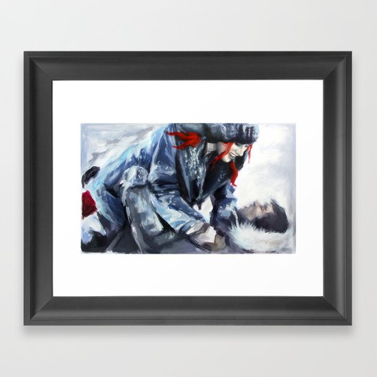 fire and ice I Framed Art Print