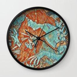 Art Noveau Portrait Wall Clock