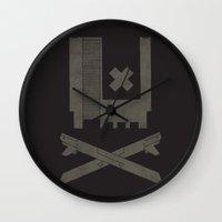 castlevania Wall Clocks featuring Nes Skull by Hector Mansilla
