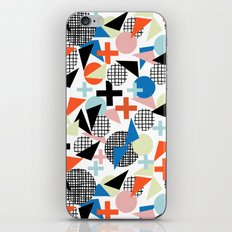 Kimbah - abstract art print shapes modern geometric retro cool colorful hipster gift idea dorm room  iPhone & iPod Skin
