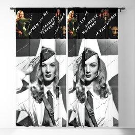 "Veronica Lake Pop-Art - ""Don't Give Up!"" by Jéanpaul Ferro Blackout Curtain"