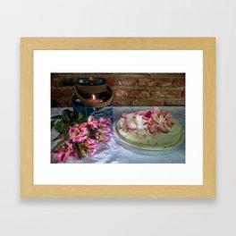 Beautiful cake Framed Art Print