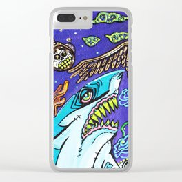 Dark Tide Clear iPhone Case
