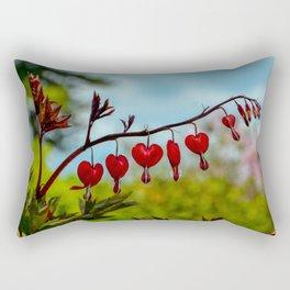 Red Bleeding Heart by Teresa Thompson Rectangular Pillow