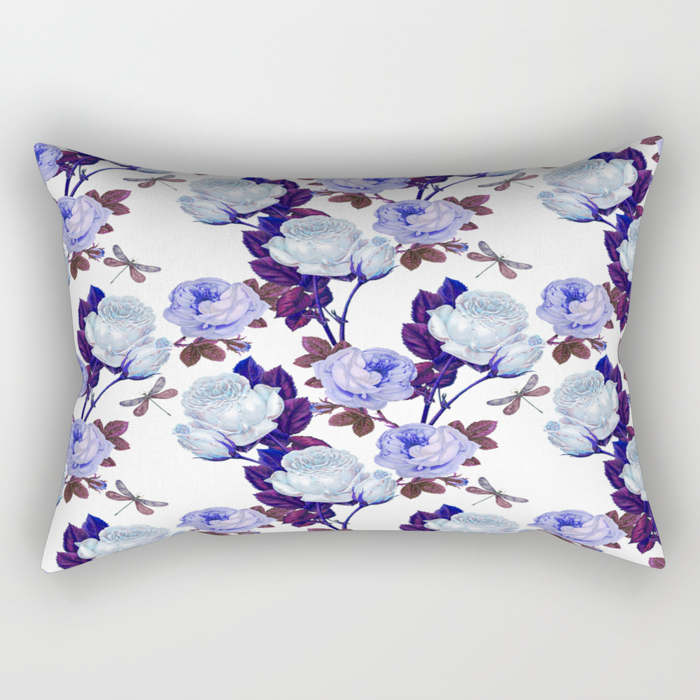Midnight Roses Rectangular Pillow RPW8423497