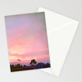 Rose Quartz and Serenity Landscape Stationery Cards