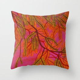 Mesquite Tree Branch at Sunset Throw Pillow