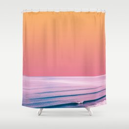 PEACHY SEA Shower Curtain