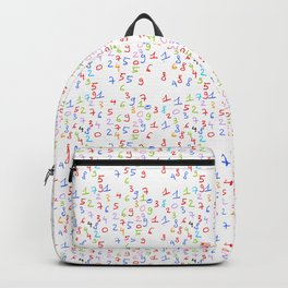 number 3- count,math,arithmetic,calculation,digit,numerical,child,school Backpack