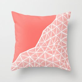 Coral Ethnic Abstract Throw Pillow