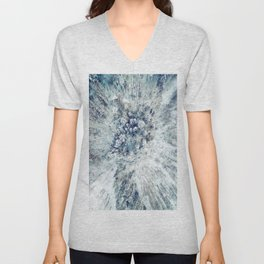 AERIAL. Frozen forest in winter Unisex V-Neck