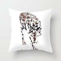 hunter Throw Pillows featuring Hunter by Stevyn Llewellyn