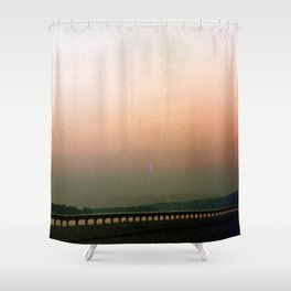 Mississippi Sunset +film photo Shower Curtain