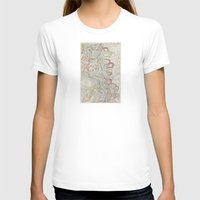 geology T-shirts featuring Beautiful Map of the Lower Mississippi River by Elegant Chaos Gallery