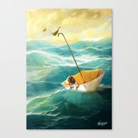 Canvas Prints featuring Drifting Away by Diogo Verissimo