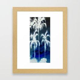 White Palms Over Lauderdale Framed Art Print