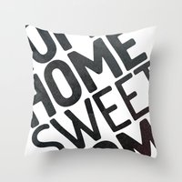 home sweet home Throw Pillows featuring HOME by Eolia