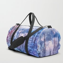 Winter forest in the mountains II Duffle Bag