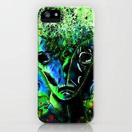 Split-face Green iPhone Case