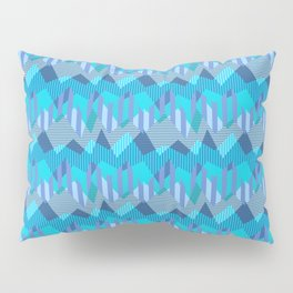 ZigZag All Day - Blue Pillow Sham