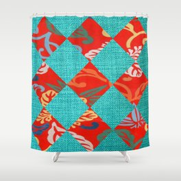 Orange & Turquoise Tropical Bliss Shower Curtain
