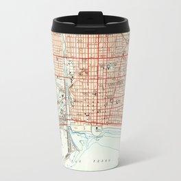 Vintage Map of Long Beach California (1949) 2 Travel Mug