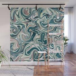 Marbling Green Rose Abstract Art Digital Painting Gift Wall Mural