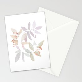 Rustic Wreath Monogram - Initial G Stationery Cards