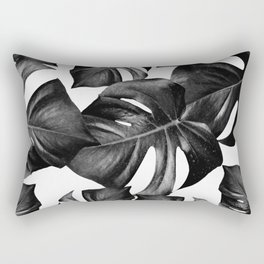 Monstera Leaves Pattern #9 #tropical #decor #art #society6 Rectangular Pillow
