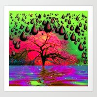 """psychedelic Art Prints featuring """"Psychedelic"""" by Moon Willow"""