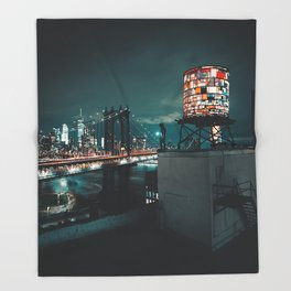 The Water Tower New York City (Color) Throw Blanket