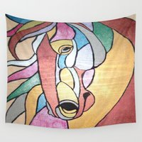 metallic Wall Tapestries featuring Metallic Horse by J&C Creations