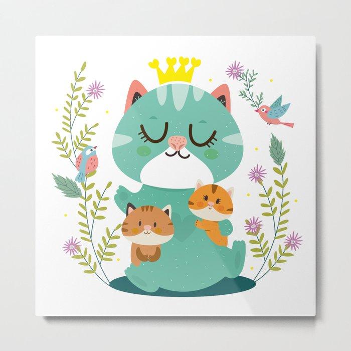 Queen cat Metal Print