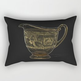 Etched Glass Rectangular Pillow