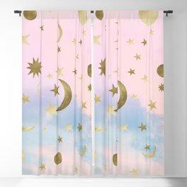 Pastel Starry Sky Moon Dream #1 #decor #art #society6 Blackout Curtain