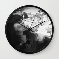 melissa smith Wall Clocks featuring melissa by Chantal Lefebvre